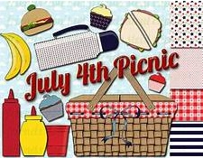 graphic of 4th of July picnic